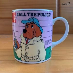 Rare Vintage McGruff The Crime Dog Coffee Mug
